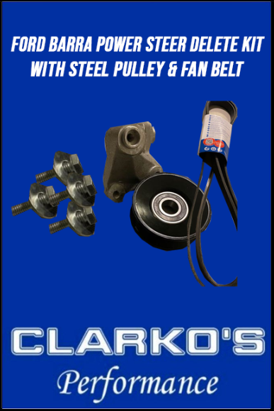 Ford Barra Power Steering Delete kit Steel Pulley & Fan Belt