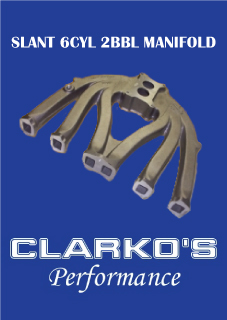 Slant 6cyl 2bbl manifold LONG RUNNER suit holley AS0023