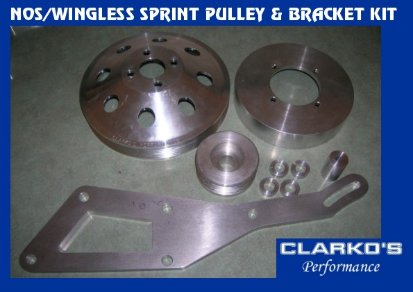 Wingless Sprint Aluminum Pulley / bracket (combo)