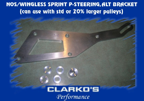 Wingless Sprint Aluminum P-Steer/Alt bracket